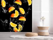 Фотообои апельсинкаи на чёрном фоне - 2