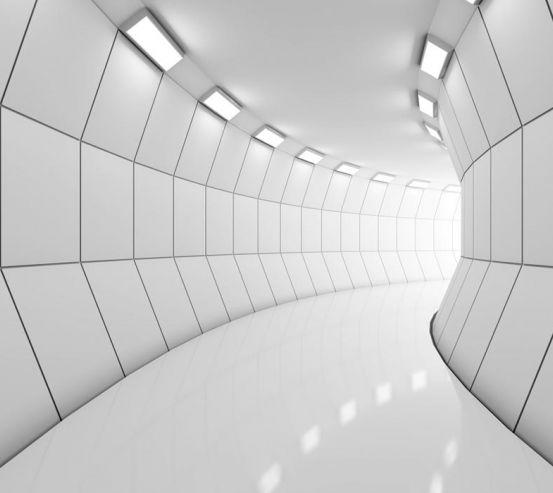 Фотошпалери Сірий тунель 22369