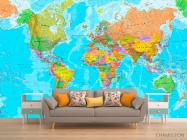 Фотообои Карта мира на английском - 1