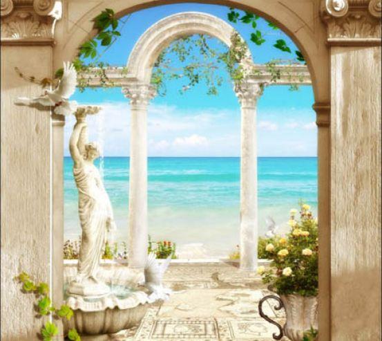 Фотообои Фреска с морем 28146