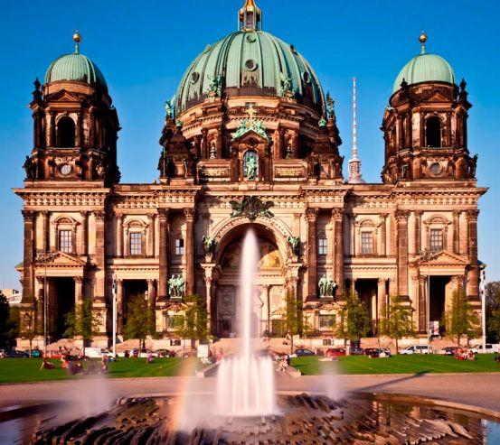 Фотообои Замок с фонтанами 0207