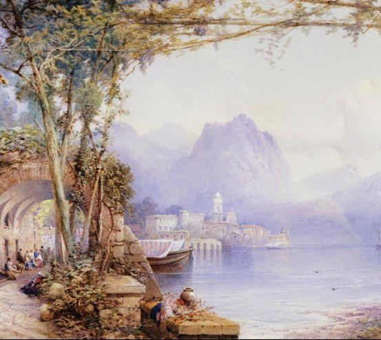 Фотообои Горы, лодки, люди 16239