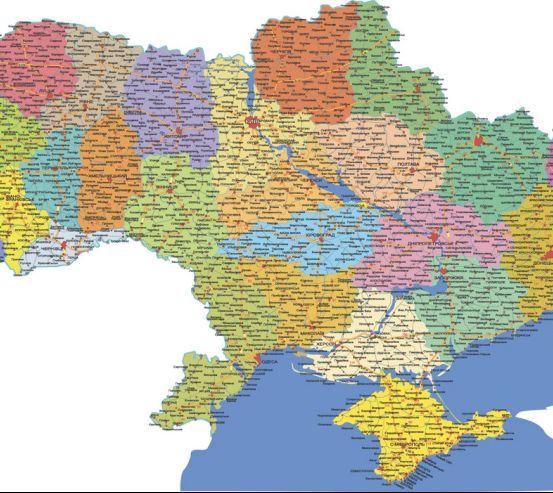 Фотошпалери Карта України 19776