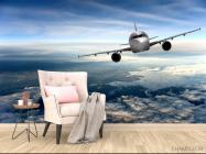 Фотообои самолёт над облаками - 4