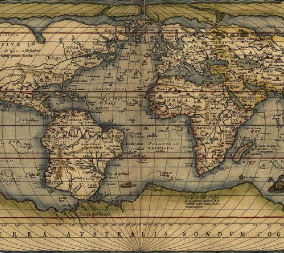 Фотошпалери Вінтажна карта світу 22637