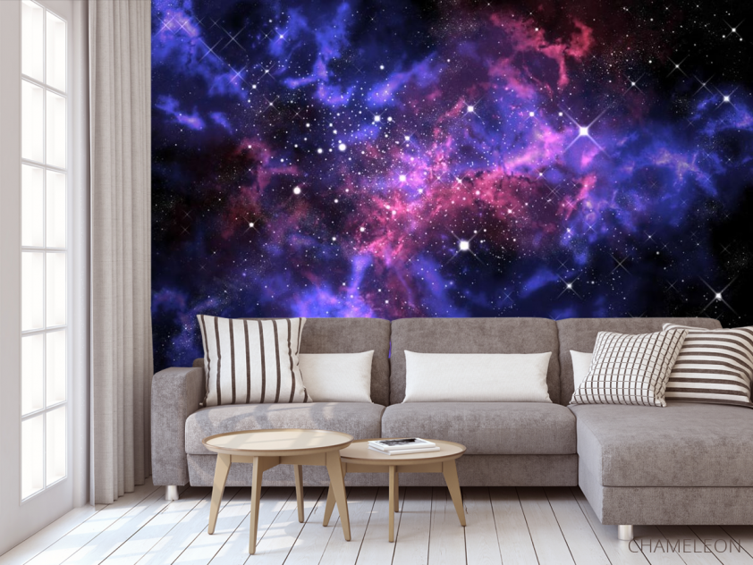 Фотообои сияние звёзд в космосе - 3