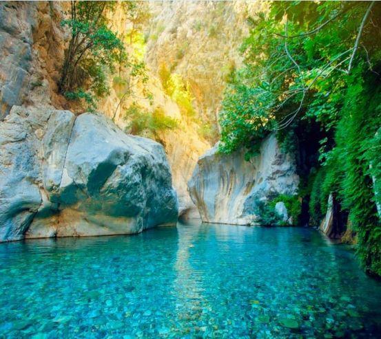 Фотообои Каменное место, вода 11289