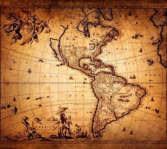 Фотообои Американская карта 10210