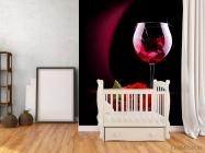 Фотообои красное вино и роза - 2