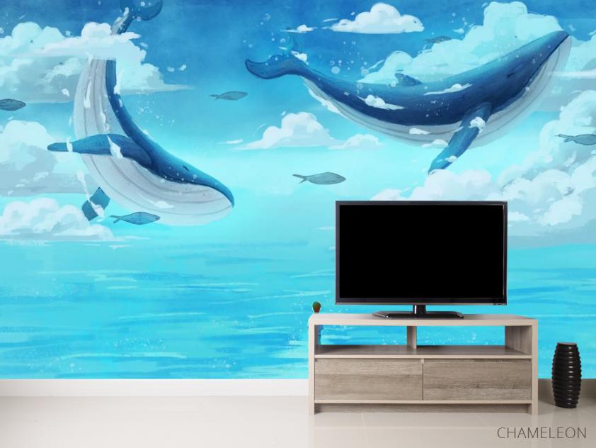 Фотообои Два кита в море - 2