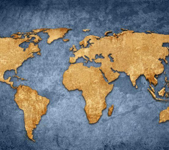 Фотошпалери Карта світу в стилі лофт 22624