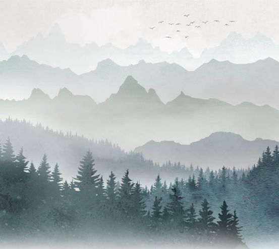 Фотошпалери гори і ліс 29204