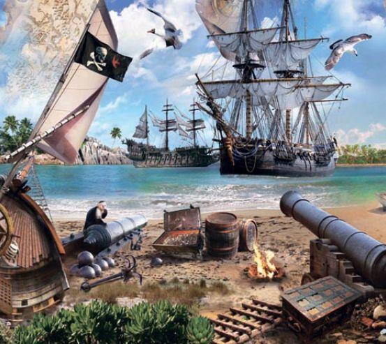 Фотообои Остров пиратов 18856