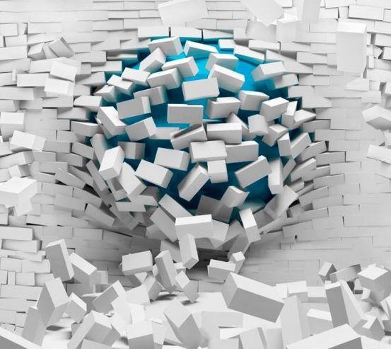 Фотошпалери Куля зі стіни 20053
