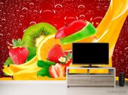 Фотообои Нарезанные фрукты, ягоды - 2