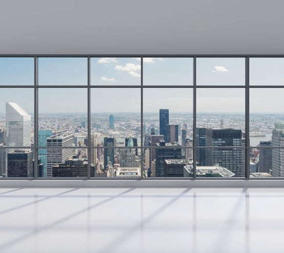 Фотошпалери Вид з вікна на місто 20223