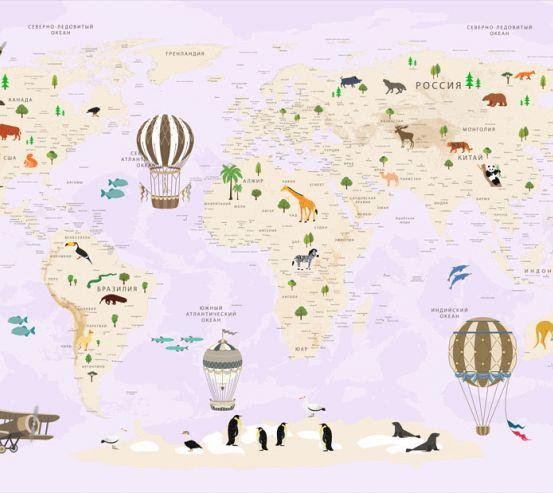 Фотообои Карта в детскую  24124