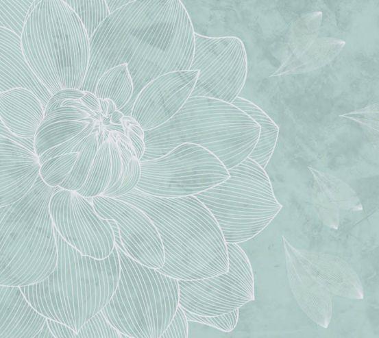 Фотообои Голубой векторный цветок 24029_2