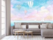 Фотообои Воздушные шары на голубом фоне - 3