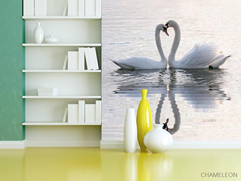Фотообои Два лебедя - 3