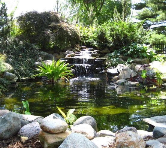 Фотообои Водопад, озерцо 0865