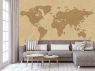 Фотообои Стилизация континентальной карты - 3