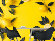Фотообои желтые с лимоном - 1