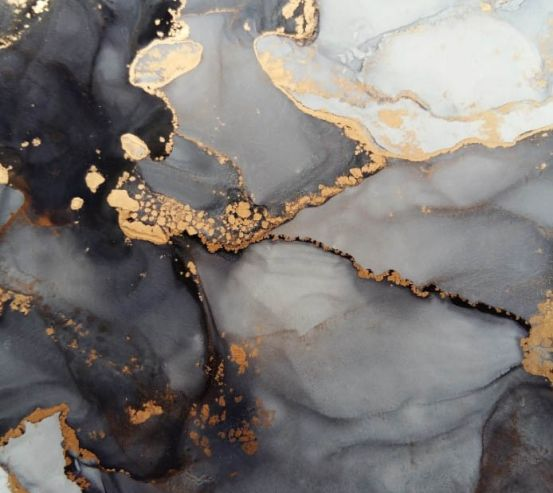 Фотообои Флюид чб с золотом 24617