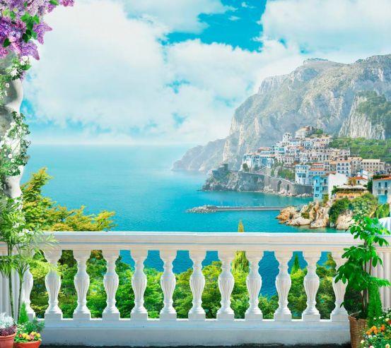 Фотообои Балкнок, горы, море, город 13615