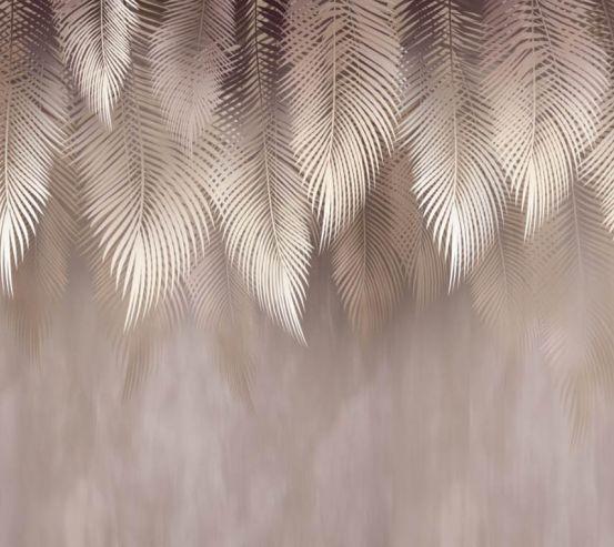 Фотошпалери дизайнерські листя коричневі 26169