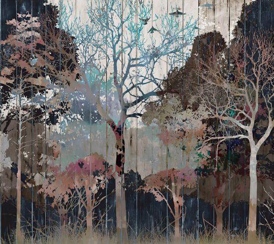 Шпалери Дизайнерські дерева 24252