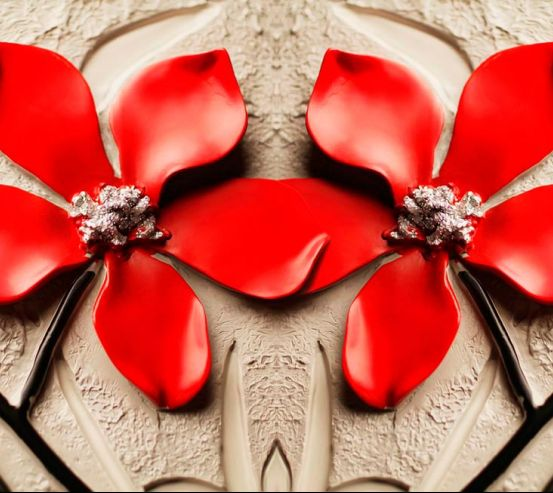 Фотообои Красные цветы 19901