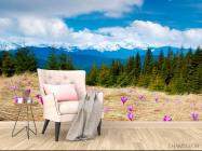 Фотообои Первоцвет весенний, ёлки - 4