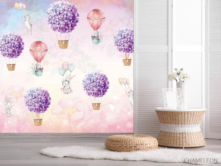 Фотообои Воздушные шары с кроликами - 2