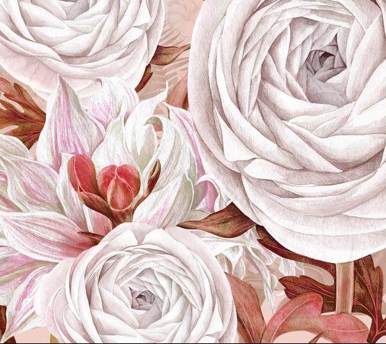 Шпалери Дизайнерські квіти 24250