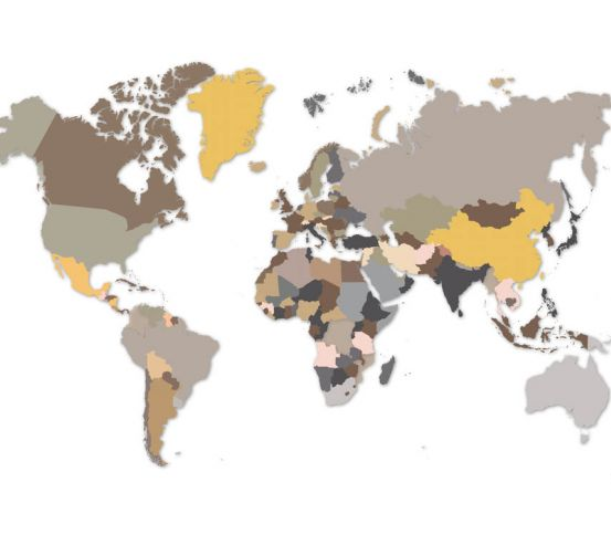 Фотошпалери Різнобарвна карта 22994