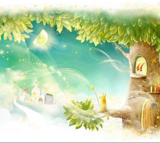 Фотообои Сказачное дерево 1424