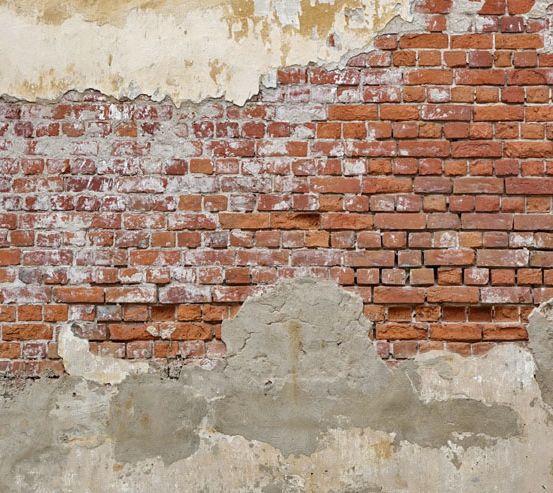 Фотошпалери Стара цегляна стіна з побілкою 20248