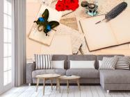 Фотообои в кухню Письмо, цветы - 3
