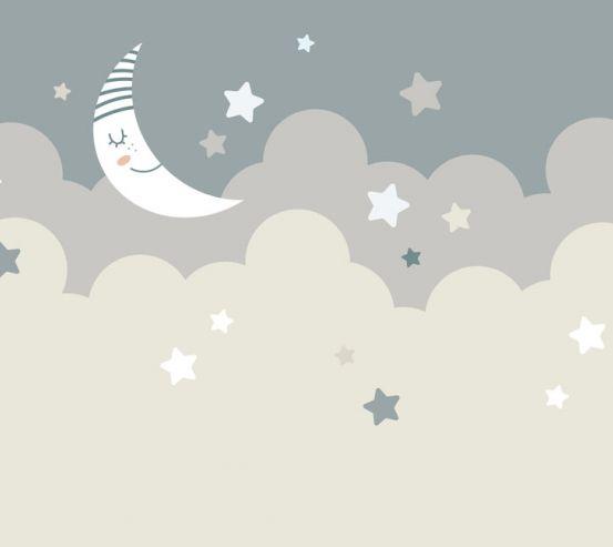 Фотошпалери Зведное небо і місяць 24059