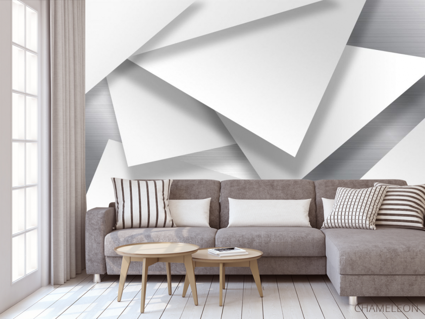 Фотообои 3д треугольники - 3