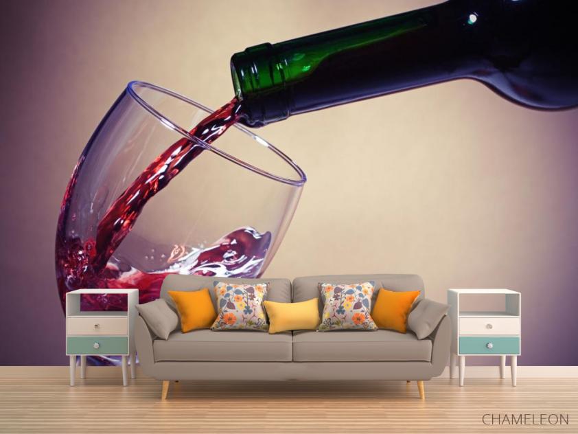 Фотообои красное вино в бокал - 1
