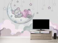 Фотообои Розовый мишка для детской - 2