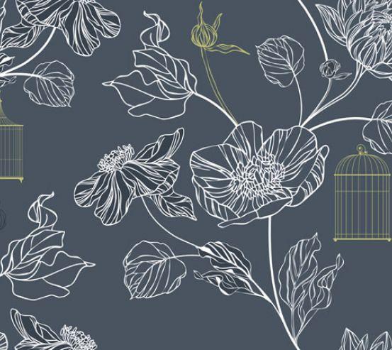 Фотообои Векторные цветы 22651