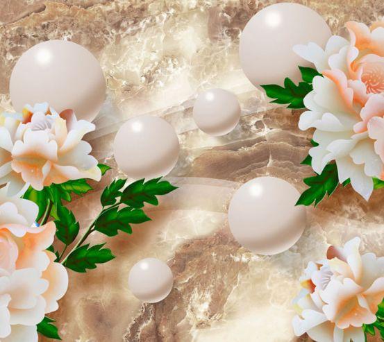 Фотообои Барельефные цветы 20122