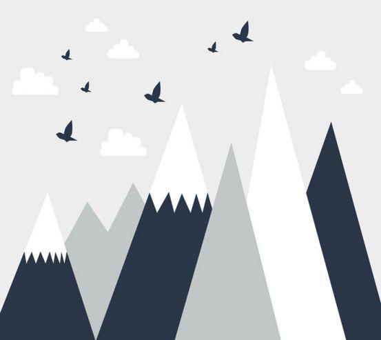 Фотошпалери Векторні гори 24076