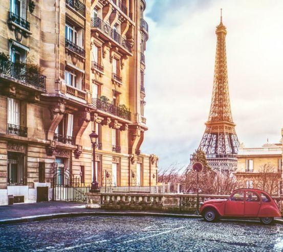 Фотообои старая улица Парижа 21344