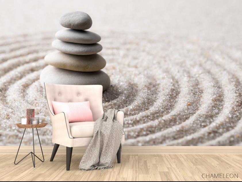 Фотообои камни на песке - 4