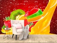 Фотообои Нарезанные фрукты, ягоды - 4