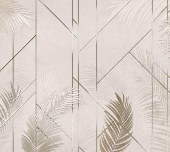 Фотошпалери геометрія і пальмові гілки 28173